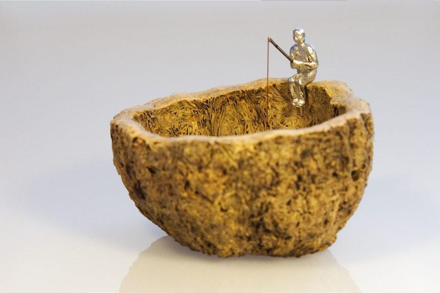 Angler Skulptur   fisherman sculptur