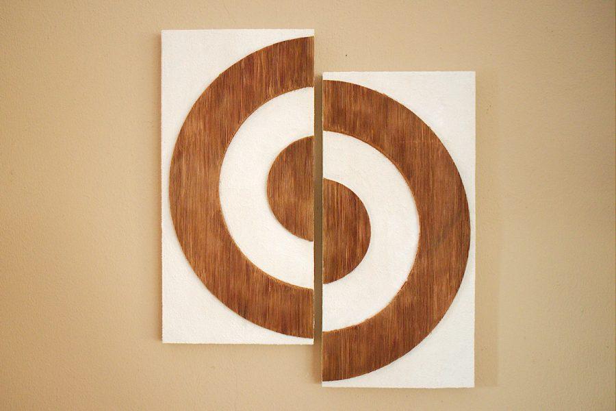 Holzbild Kreise   Picture Circles