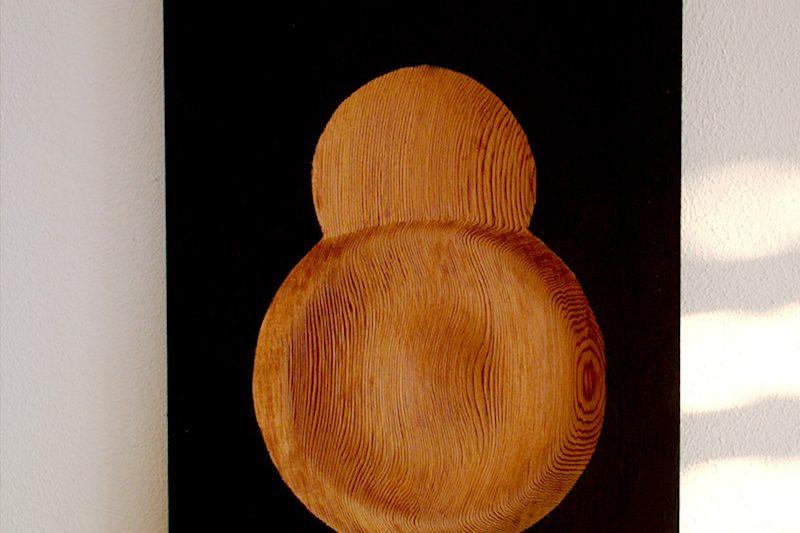 Holzbild Nabel   wood picture navel